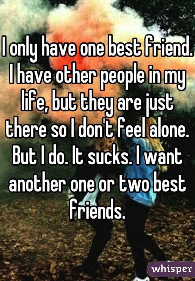 i only have one best friend i have other people in my life but