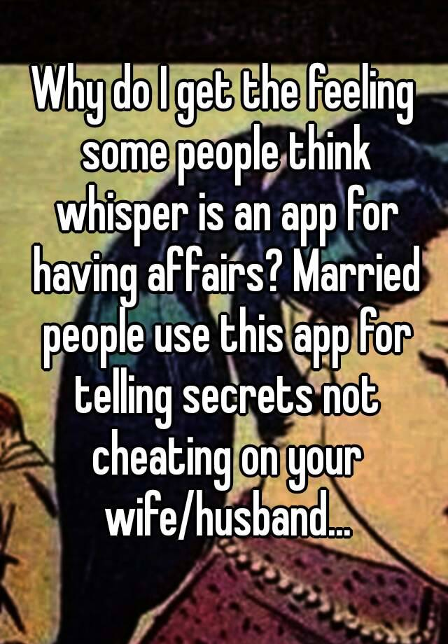 apps for married affairs