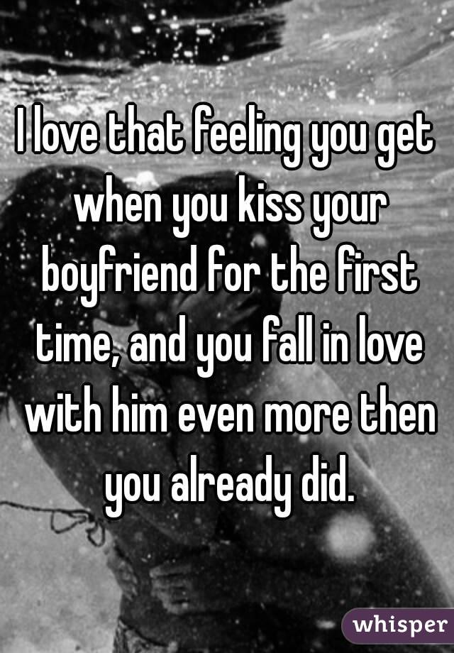 how do you kiss your boyfriend for the first time