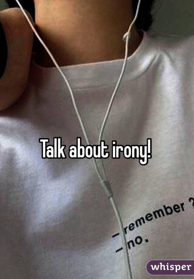 about irony