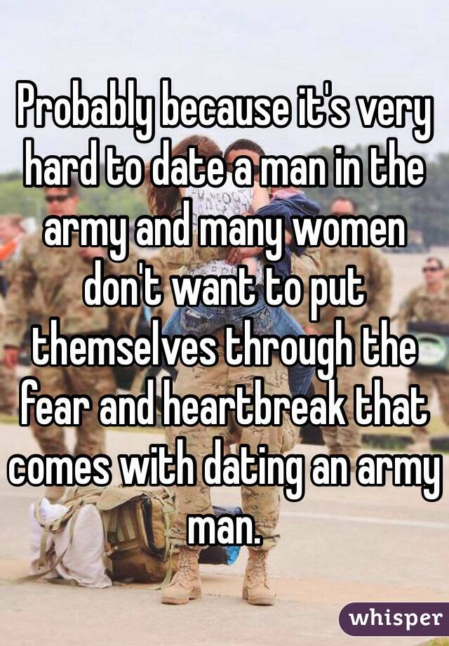 dating a man in the army