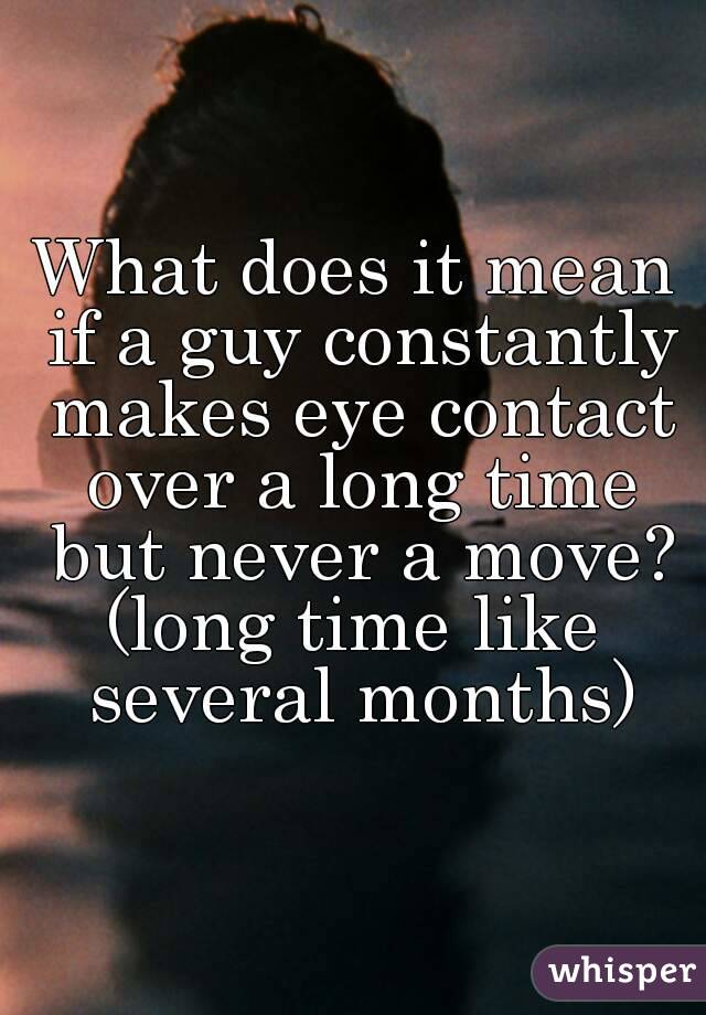 Contact eye he when makes Improving Your