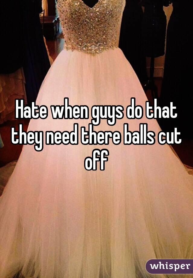 Balls Woman cuts off mans