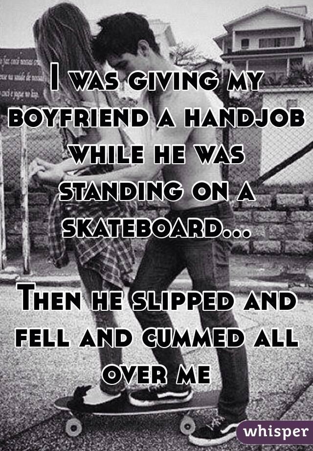 Giving Boyfriend A Handjob