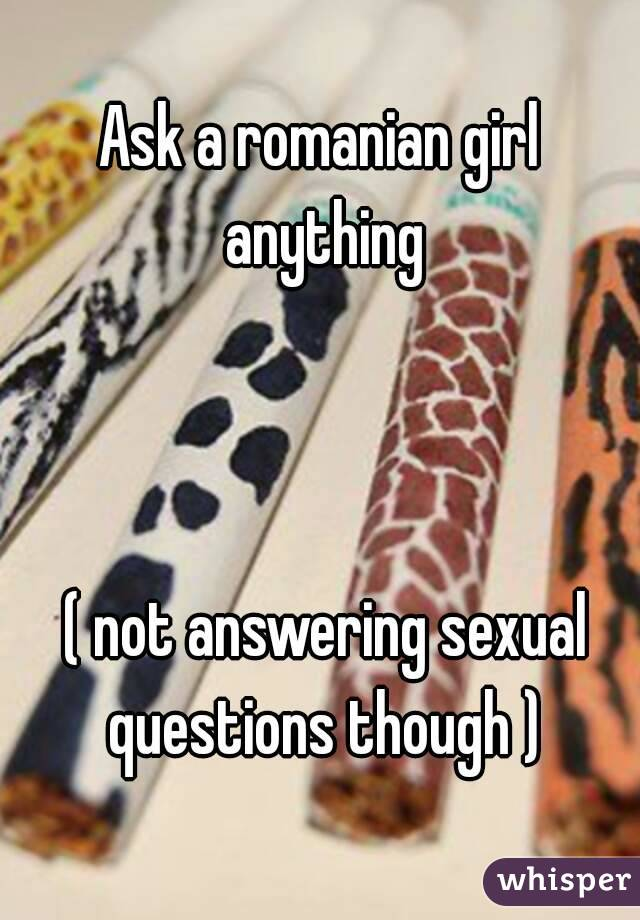 Sexual Questions For A Girl