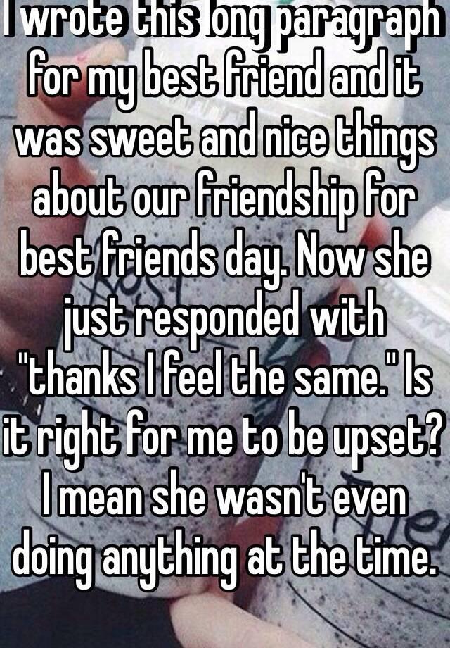 long paragraph for friend