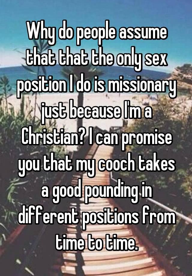 Christian position sex