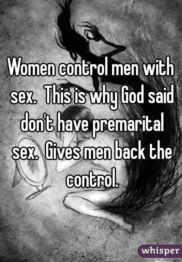 Women controlling sex