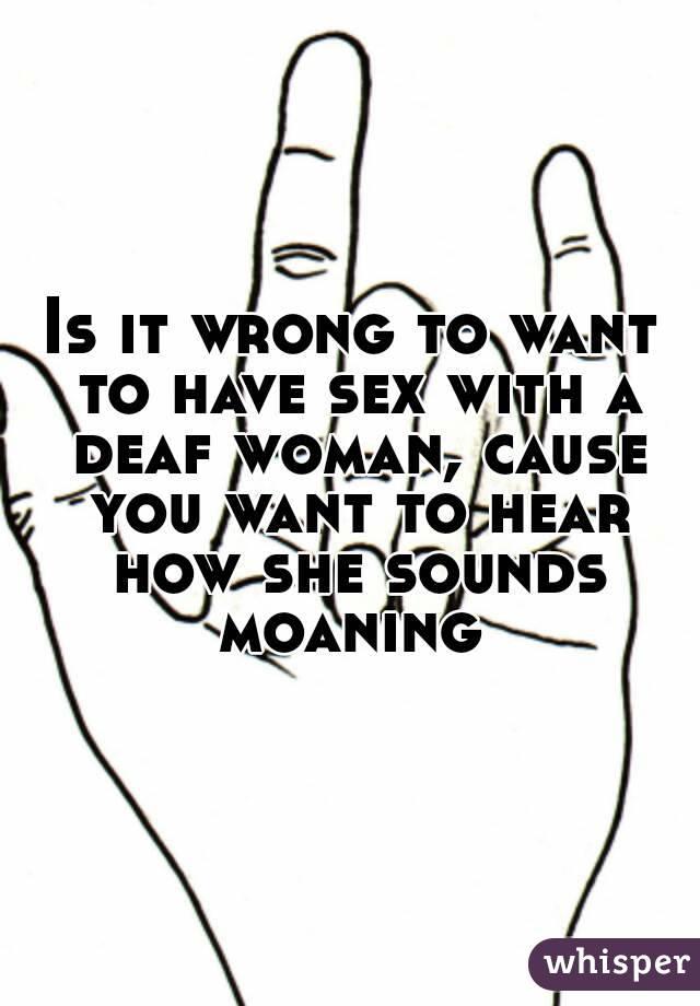 Woman moaning sounds