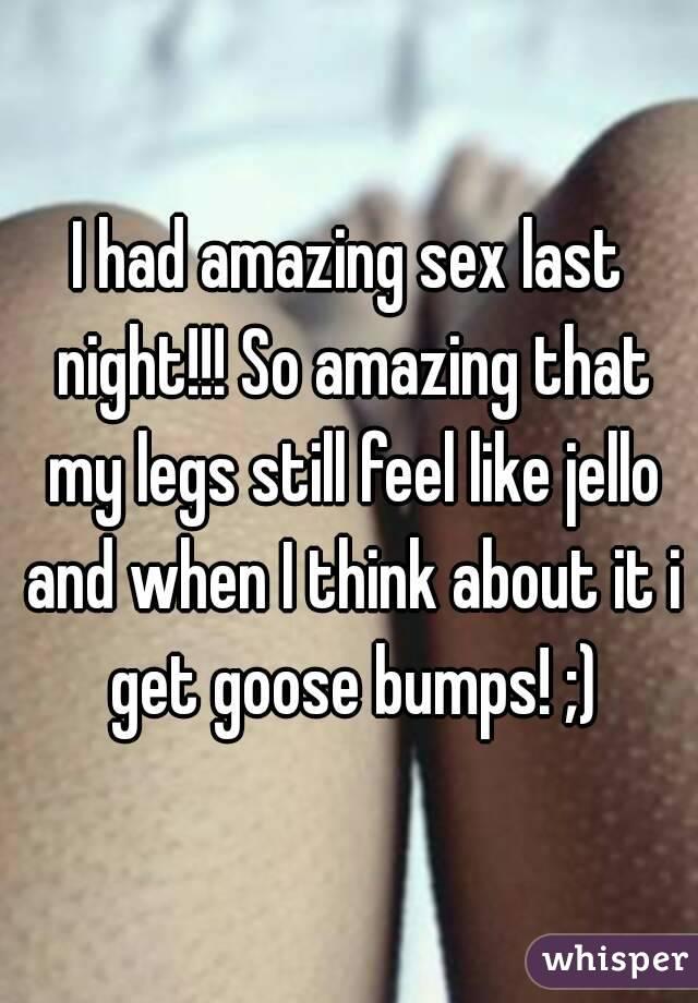 Jello feels like sex