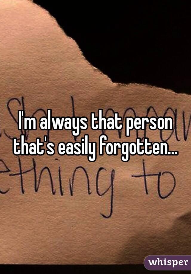 Forgotten Person