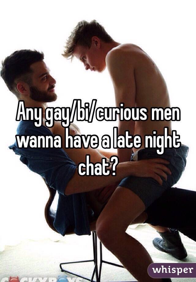 Bi curious male chat
