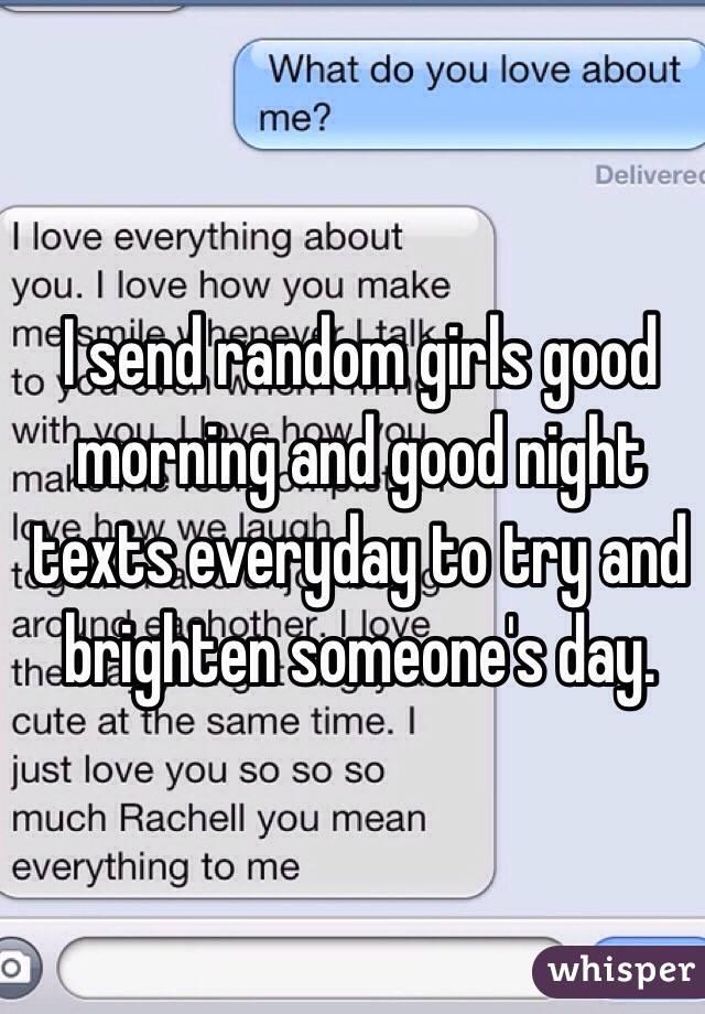 how to text a random girl