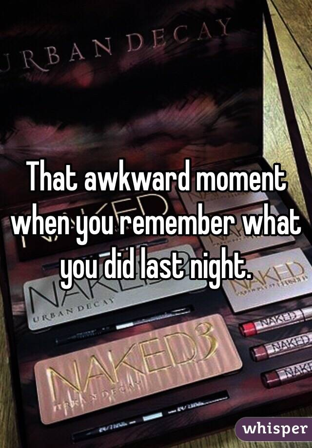 do you remember that night