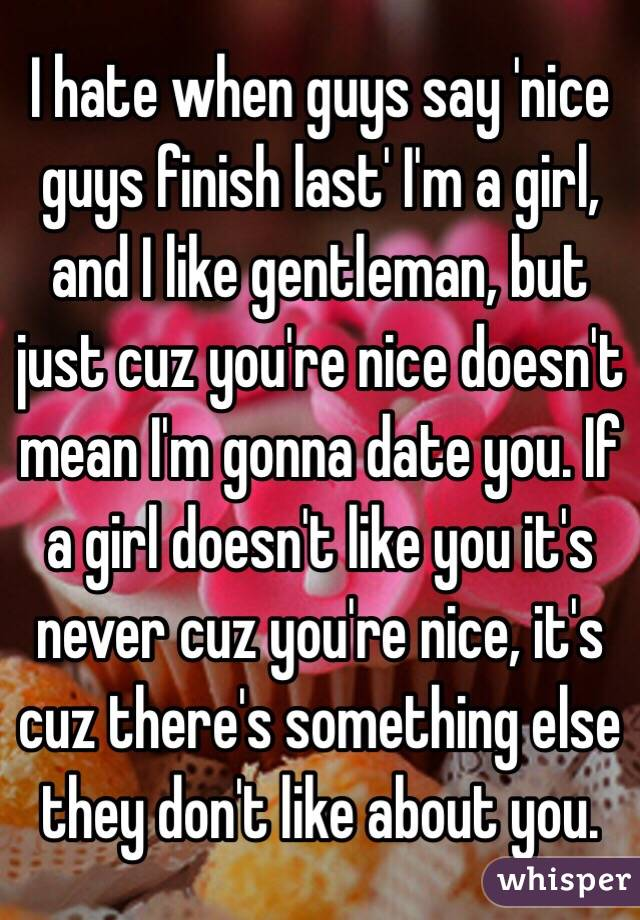 nice guys finish last in dating
