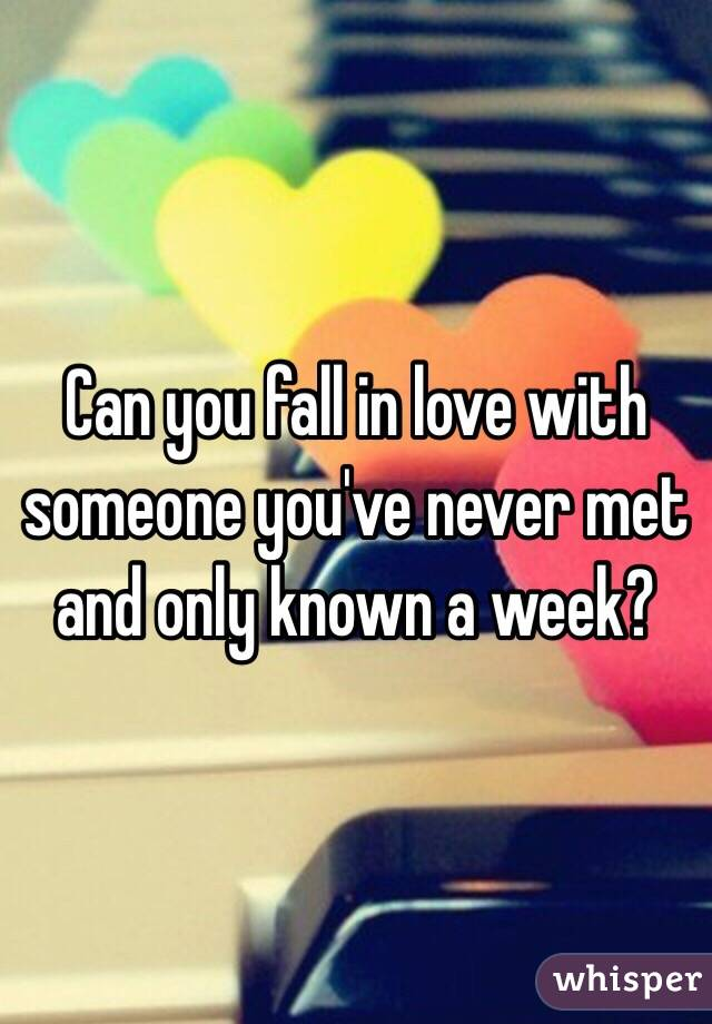 Fall In You A Week Love Can In