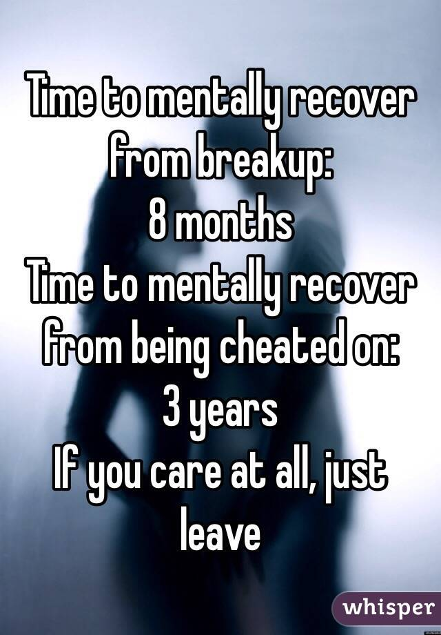 How to recover from being cheated on