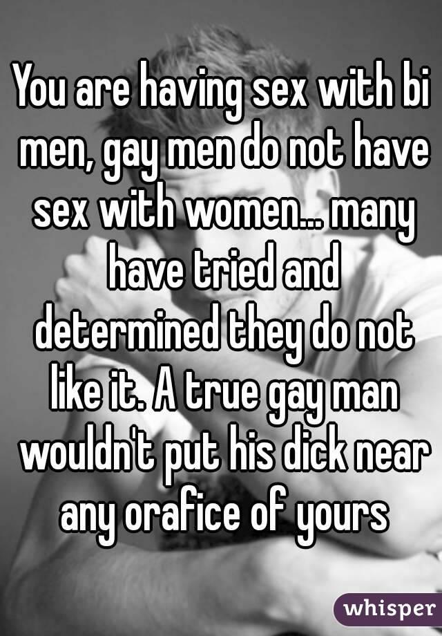 Women who love bi men