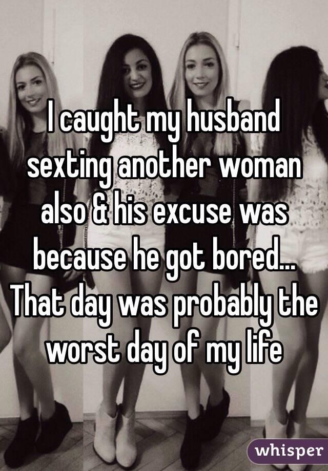 Woman sexting my husband