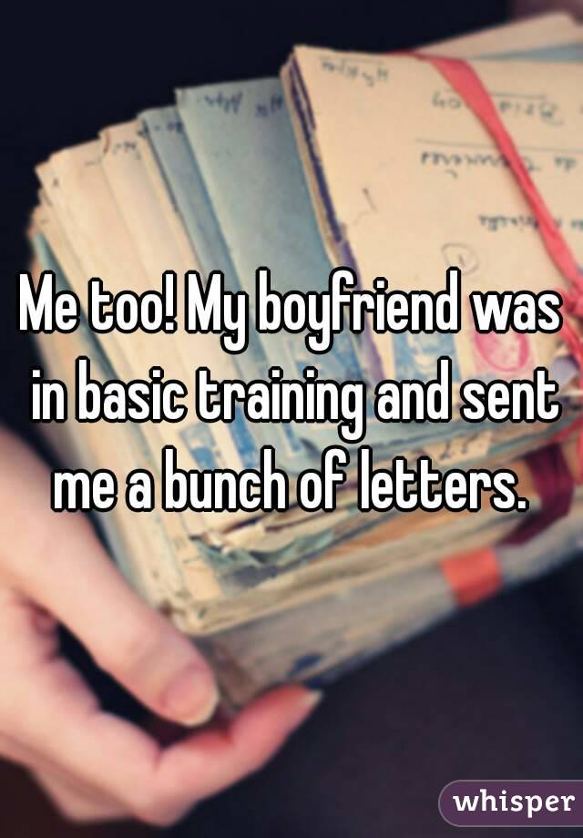 writing letters to boyfriend in basic training