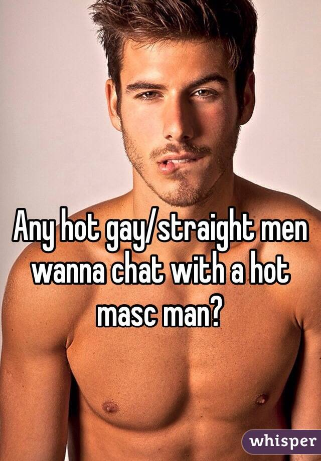 Straight gay chat