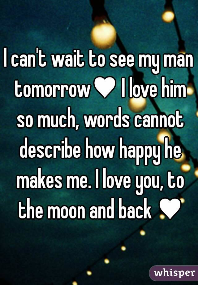 How much i love my man