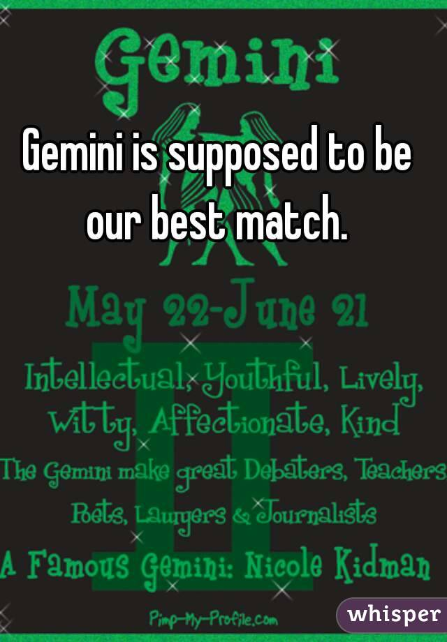 What Is The Best Match In behalf of Gemini