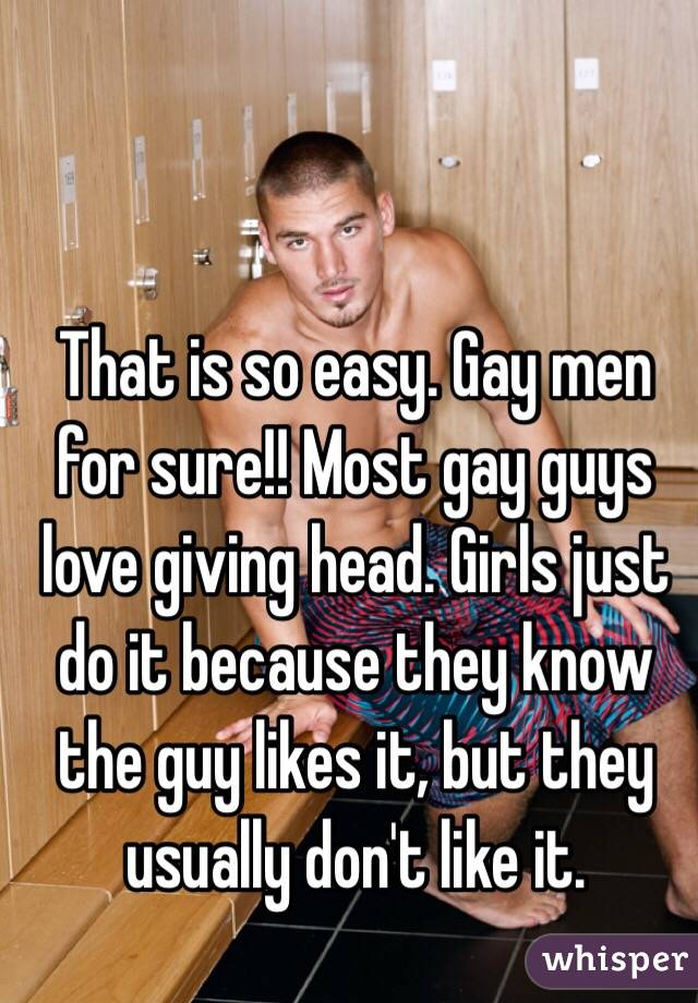 Gay gives head