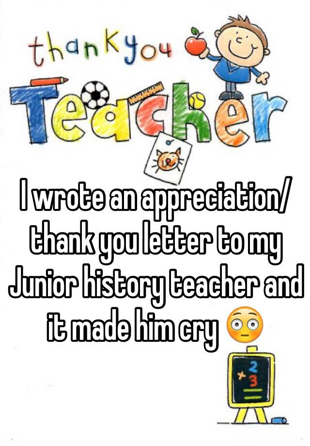 thank you teachers essay It is because of you that i will, one day, be able to go on and become one amazing teacher i thank you for that beyond simply saving my life though, you have.