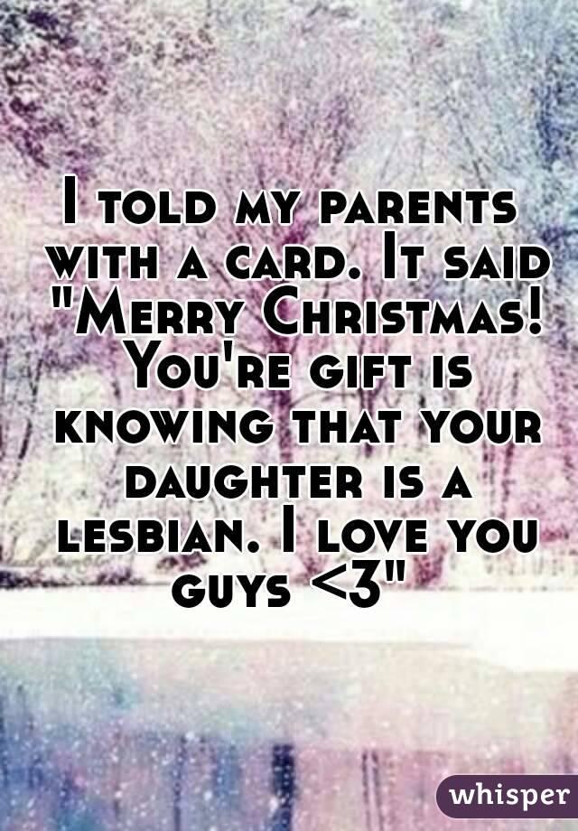 Amusing message Christmas lesbian love visible, not