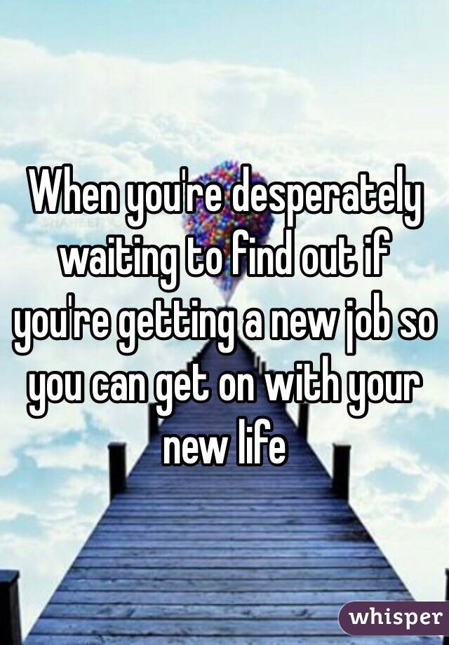 getting a new job