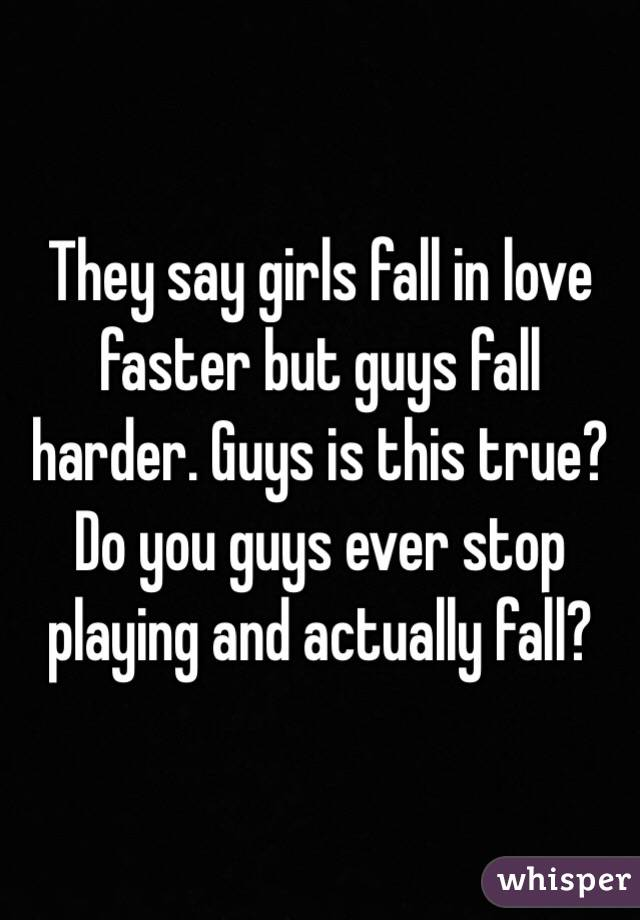 Why Do Men Fall In Love Faster