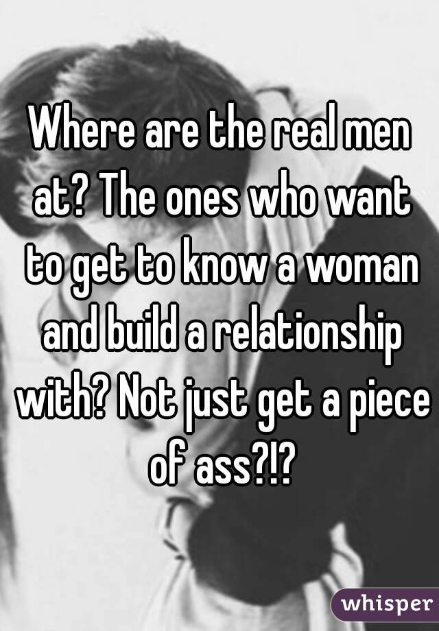 where the real men at