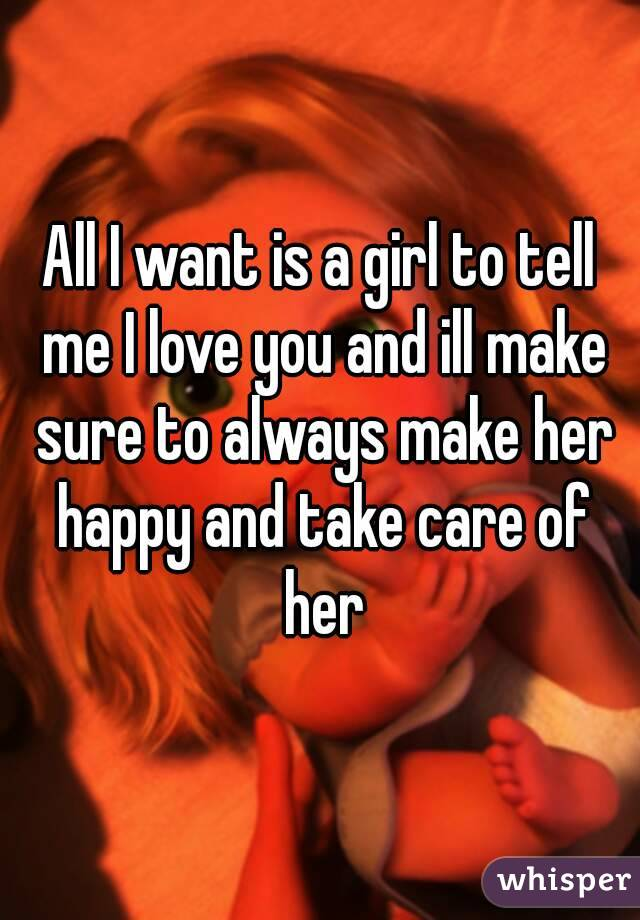 i want to take care of her