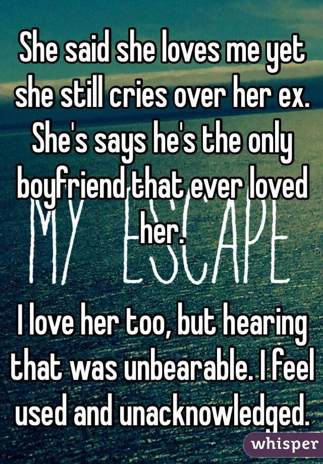 Does she still love her ex