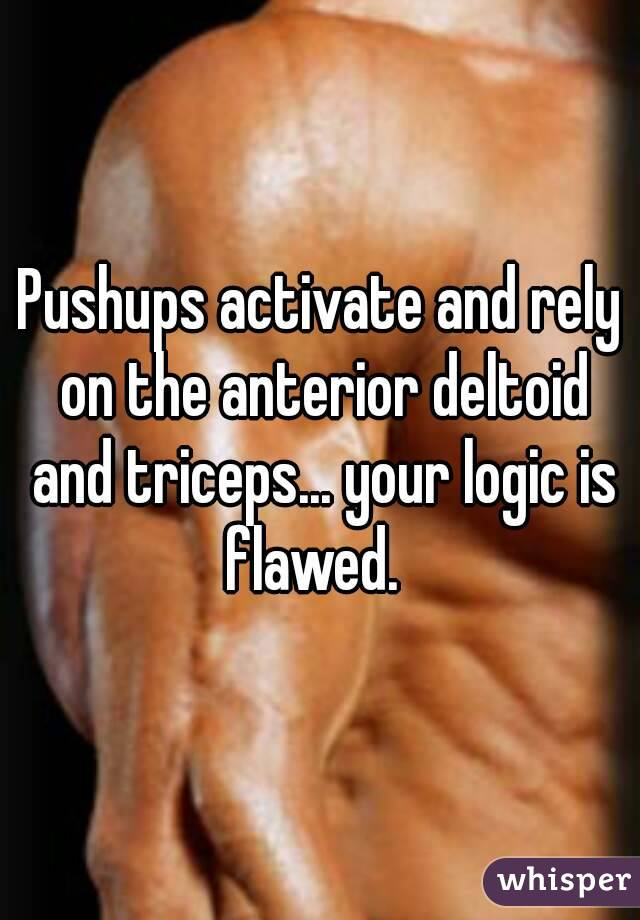 Pushups activate and rely on the anterior deltoid and triceps ...