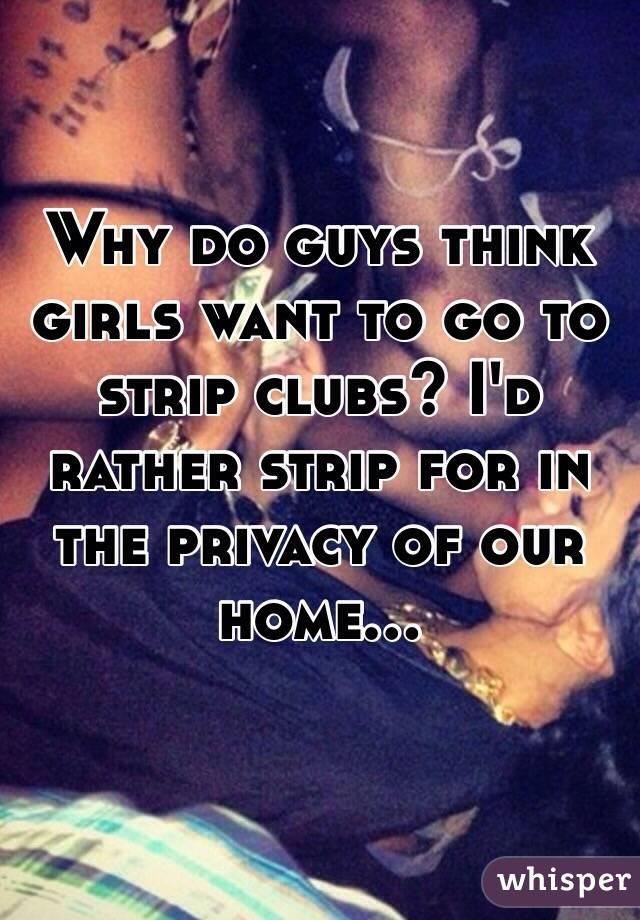 Why Do Guys Go To Swath Clubs