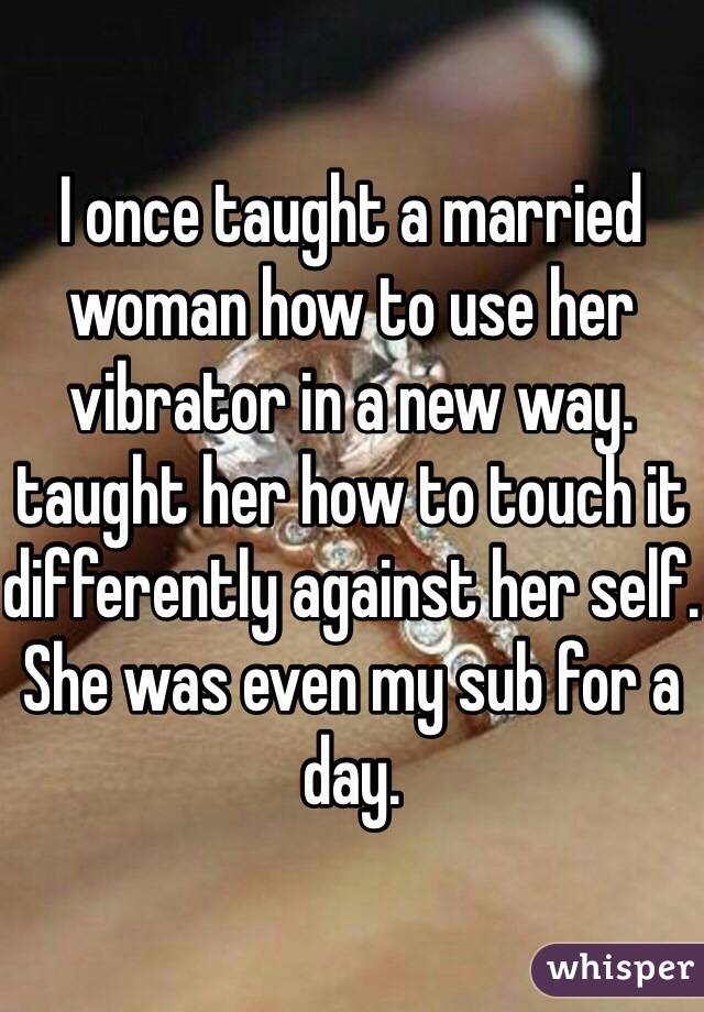 Married vibrator stories