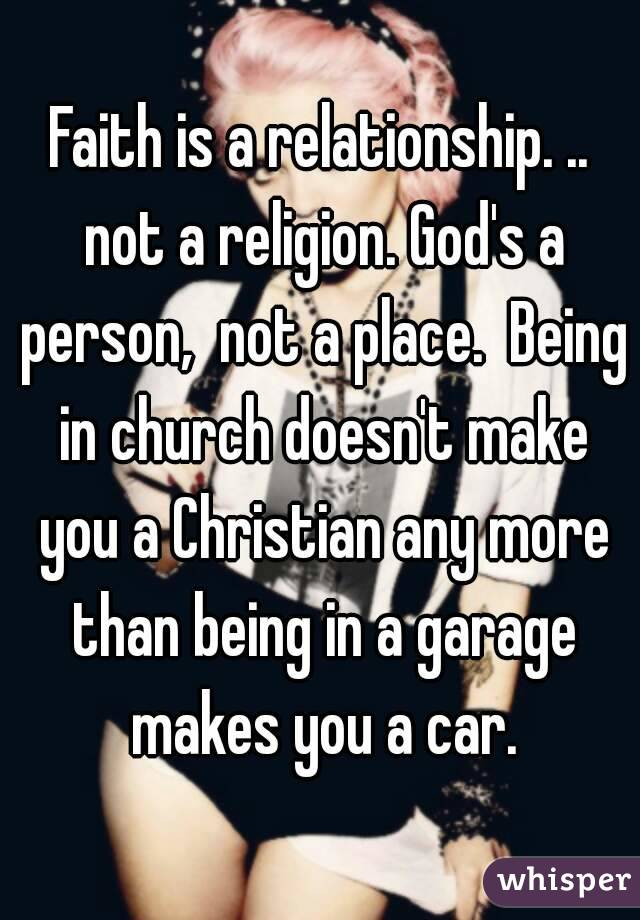 being in a christian relationship