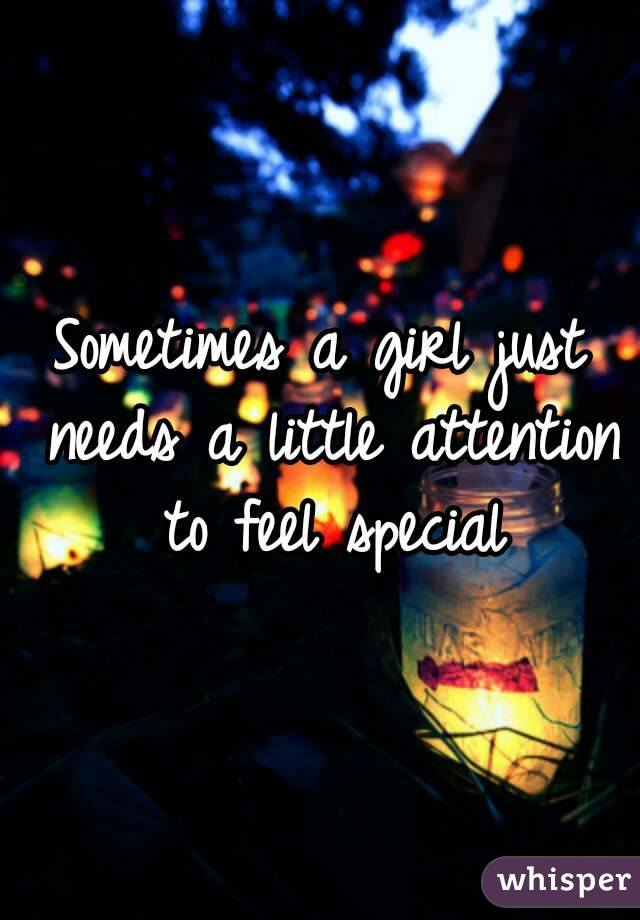 the need to feel special