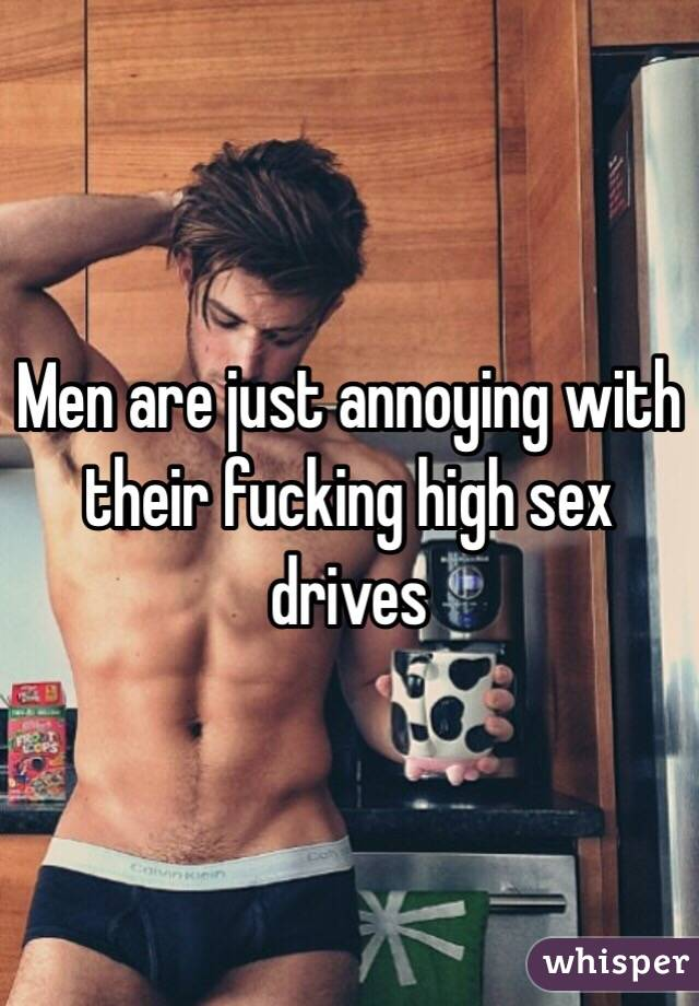 Men with high sex drives