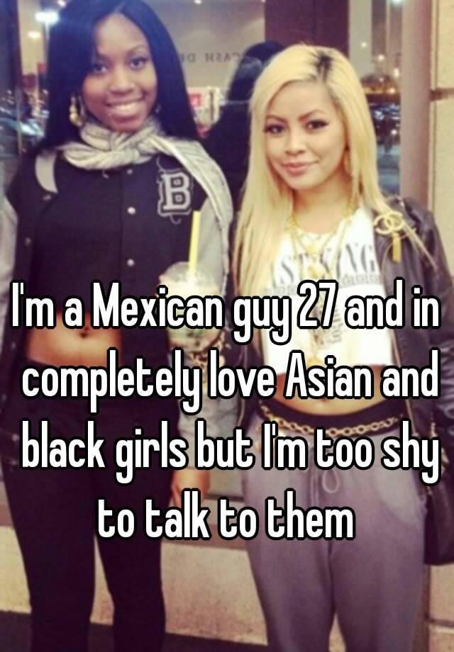 Mexican girl black guy