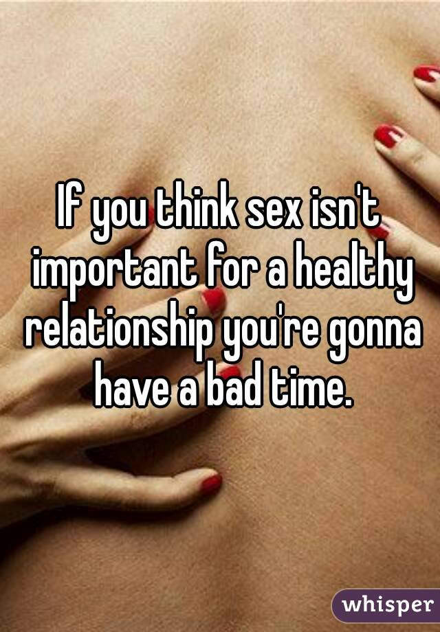 Importance of sex in a healthy relationship