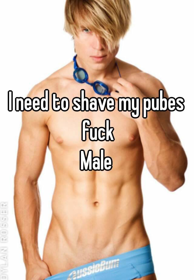 should i shave my pubes male