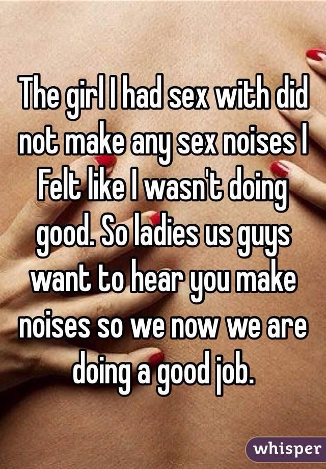 Girl sex noises