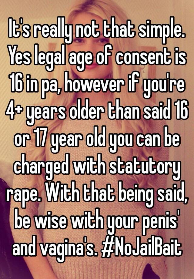 Legal age for sex in pennsylvania