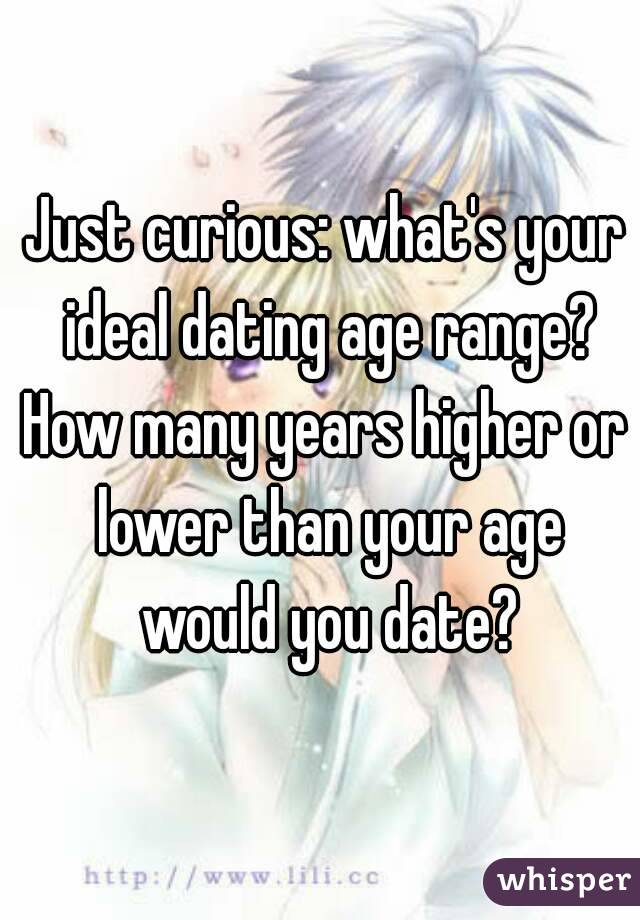 Just curious: what's your ideal dating age range? How many years higher or lower than your age would you date?