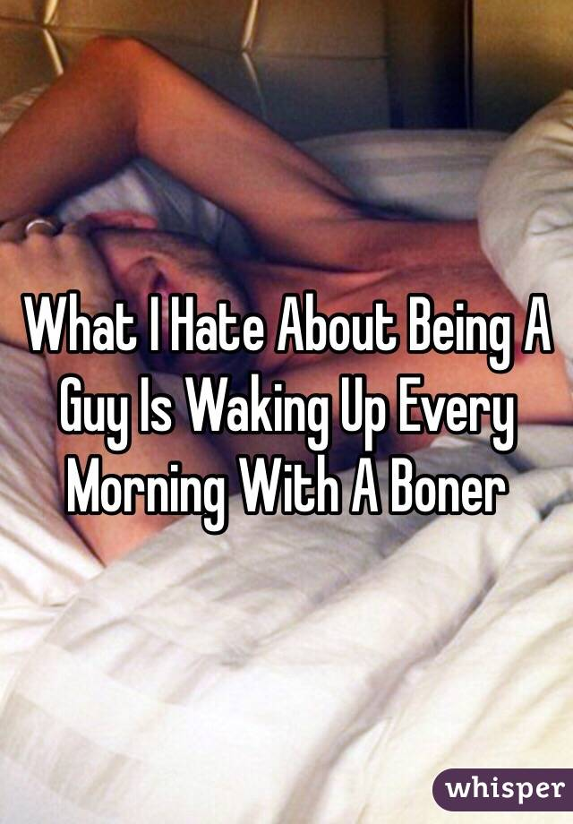 Why do guys wake up with erections