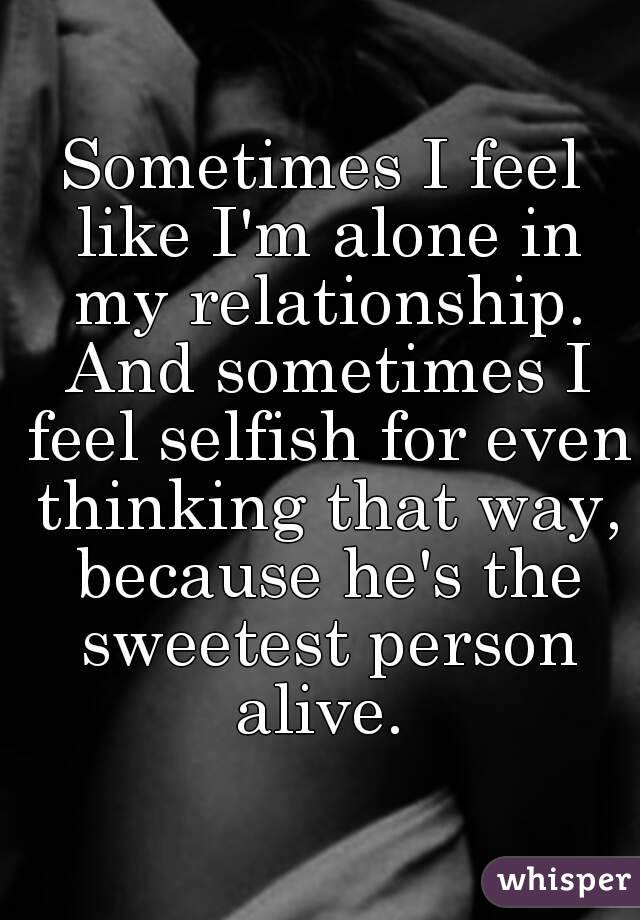 alone in a relationship