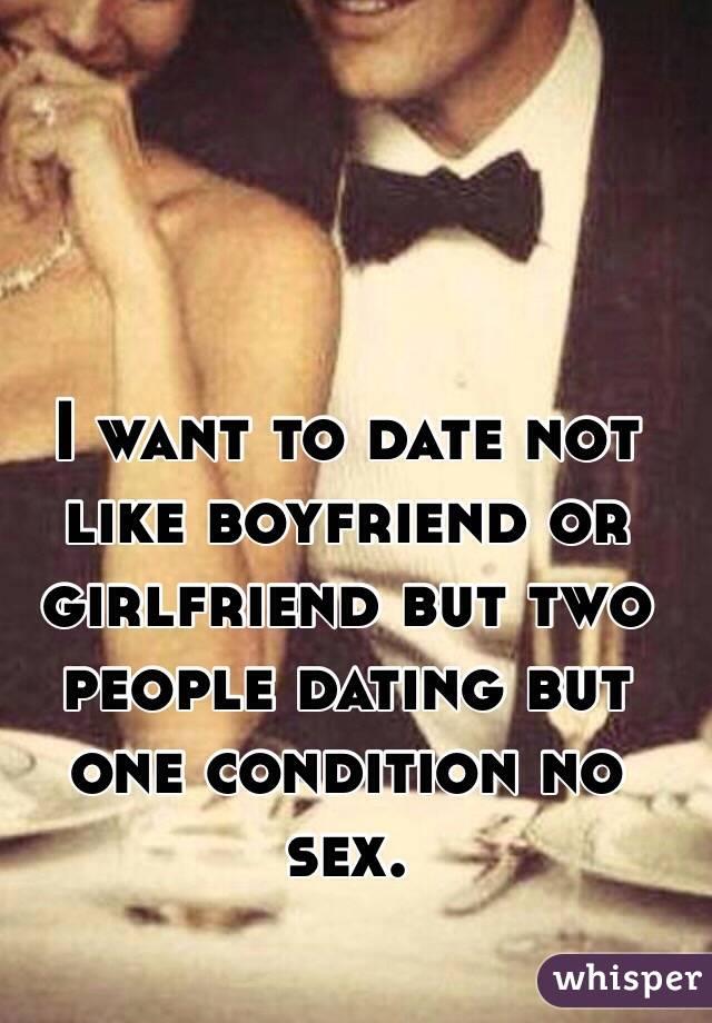 dating but not girlfriend